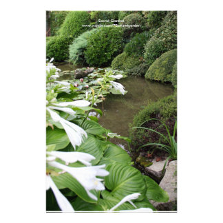 Hosta in a Zen Garden Customized Stationery