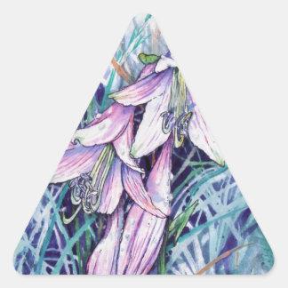 Hosta in bloom triangle sticker
