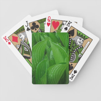 Hosta Leaves with Raindrops Playing Cards