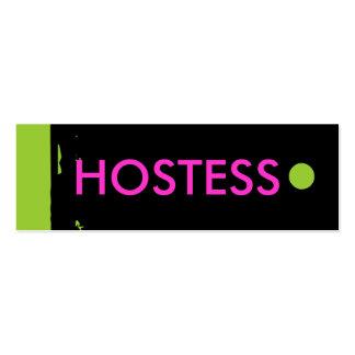 """HOSTESS"" Hang Tag Business Card Templates"
