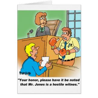 HOSTILE WITNESS GREETING CARDS