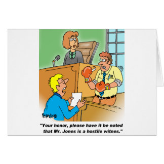 HOSTILE WITNESS GREETING CARD
