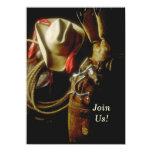 Hosting Western Themed Milestone Birthday Party 11 Cm X 16 Cm Invitation Card