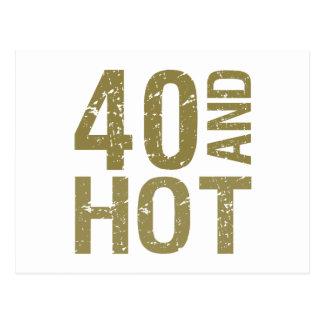 Hot 40th Birthday Postcard