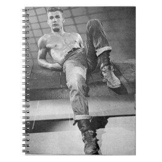 Hot 50s Man Spiral Notebook