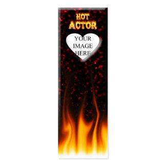 Hot Actor fire and red marble Pack Of Skinny Business Cards