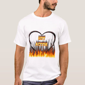 Hot Actor fire and red marble T-Shirt