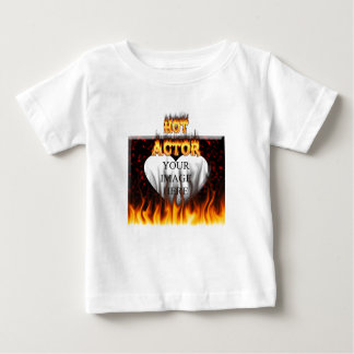 Hot Actor fire and red marble Tee Shirt