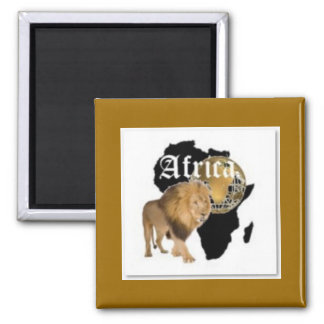 """Hot  """"Africa"""" Flag T-shirt,  And Etc ( Square Magnet"""