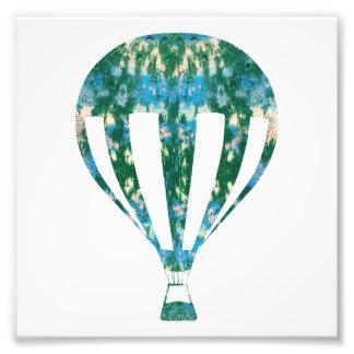 Hot Air Ballon | Sea Wall Graffiti Photography Art Photo Art