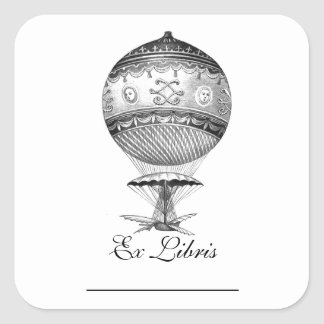 Hot Air Ballon Steampunk Bookplates Stickers