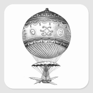 Hot Air Ballon Steampunk Stickers
