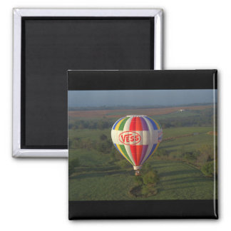 Hot air balloon , 1983_Classic Aviation Square Magnet