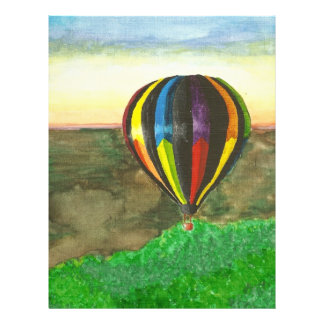 Hot Air Balloon 21.5 Cm X 28 Cm Flyer