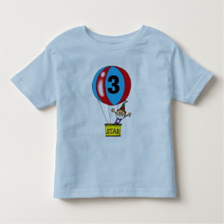 Hot air balloon 3rd birthday party toddler T-Shirt