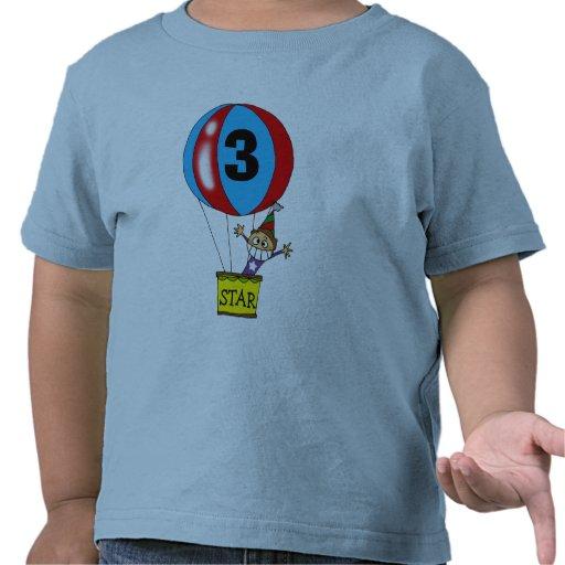 Hot air balloon 3rd birthday party shirt