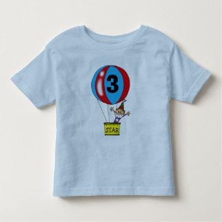 Hot air balloon 3rd birthday party tshirts
