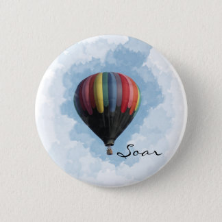 Hot Air Balloon 6 Cm Round Badge