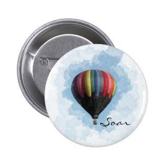 Hot Air Balloon 6 Cm Round Badge