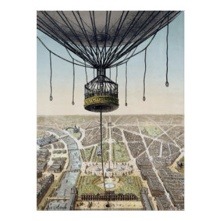 Hot Air Balloon Advertising Poster