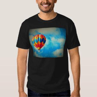 Hot Air Balloon Aloft in the Blue Sky T Shirts