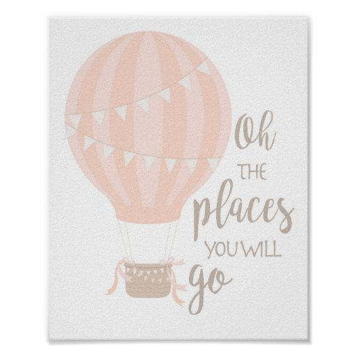 Hot Air Balloon Art, Oh The Places You