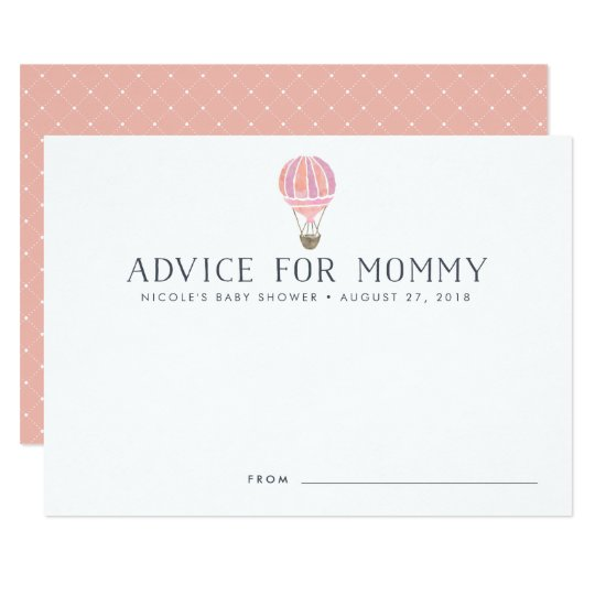 Hot Air Balloon Baby Shower Advice Cards |