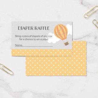 Hot Air Balloon Baby Shower Diaper Raffle Tickets