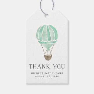Hot Air Balloon Baby Shower Favor Tags | Mint