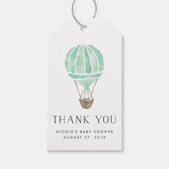 Hot Air Balloon Baby Shower Favour Tags |
