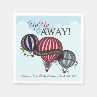 Hot air balloon baby shower napkins disposable serviette