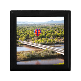 Hot Air Balloon Ballooning Over The Rio Grande Small Square Gift Box