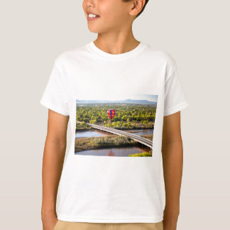 Hot Air Balloon Ballooning Over The Rio Grande T-Shirt