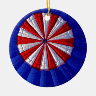 Hot Air Balloon Ballooning Red White Blue Christmas Ornament