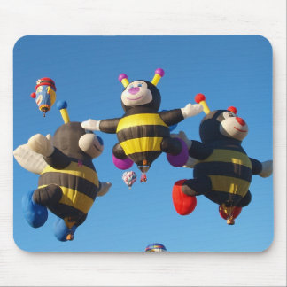 Hot Air Balloon Bee - Ballooning Mouse Mat