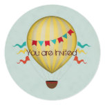 Hot Air Balloon Birthday Personalised Announcement