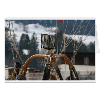 Hot Air Balloon Burner in Snow Card