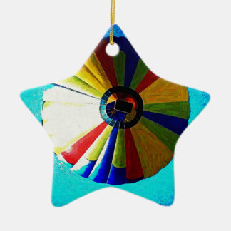 Hot Air Balloon Ceramic Star Decoration