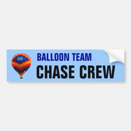 Hot Air Balloon Chase Team Bumper Stickers