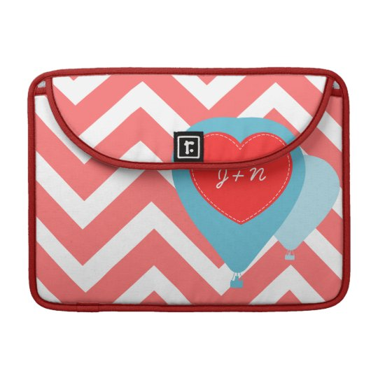 Hot Air Balloon Chevron Design Macbook Pro Sleeve