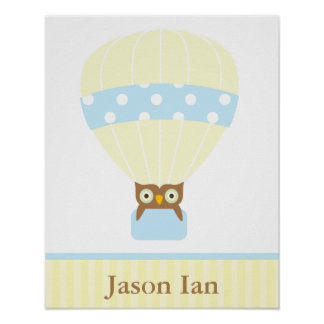 Hot Air Balloon Children's Wall Art
