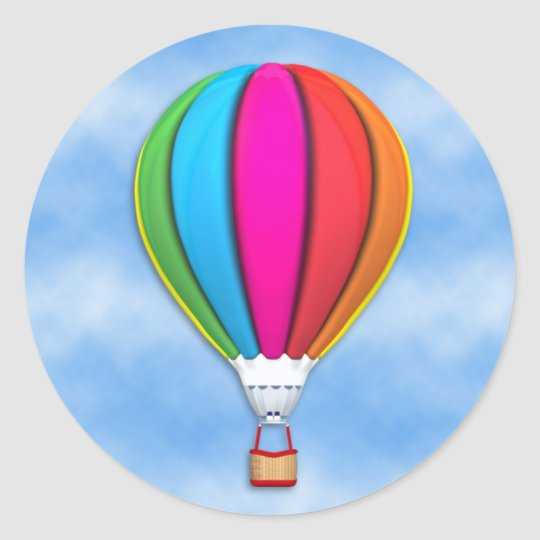 Hot Air Balloon Classic Round Sticker