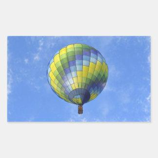 Hot Air Balloon Digital Art Watercolor Rectangular Sticker