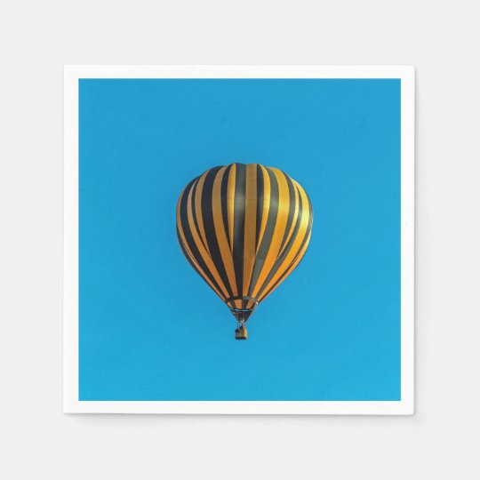 Hot air balloon disposable serviette