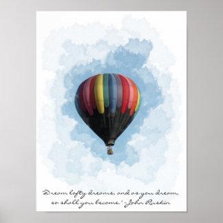 Hot Air Balloon Dream Poster