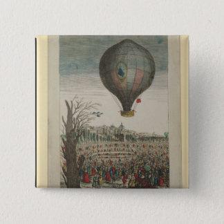Hot-Air Balloon Experiment 15 Cm Square Badge