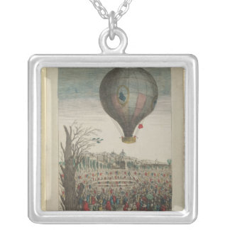 Hot-Air Balloon Experiment Square Pendant Necklace