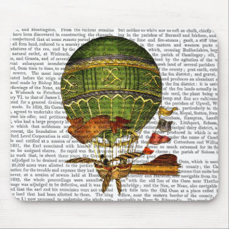 Hot Air Balloon Green Mouse Mat
