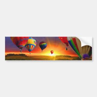 hot air balloon image bumper sticker