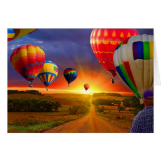 hot air balloon image card